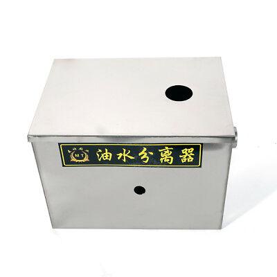 Single Inlet 50m3/h Grease Trap Interceptor Oil Water Separator Kitchen Steel 3