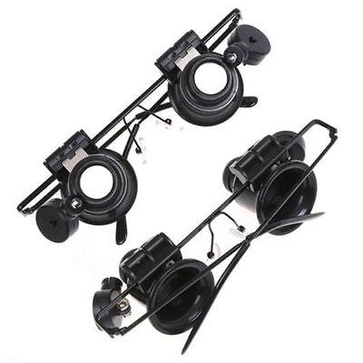 Reemplazable 2LED magnifier con Linsen Joyero Relojero 20X Gafas De Aumento Lupa 2