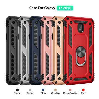 For Samsung Galaxy J2 J3 J4 Plus J6 J7 Magnetic Military Armor Stand Ring Case 6