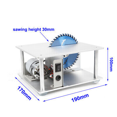 Portable Electric Mini Benchtop Table Saw Adjustable 96-120W Home Workshop Use 2