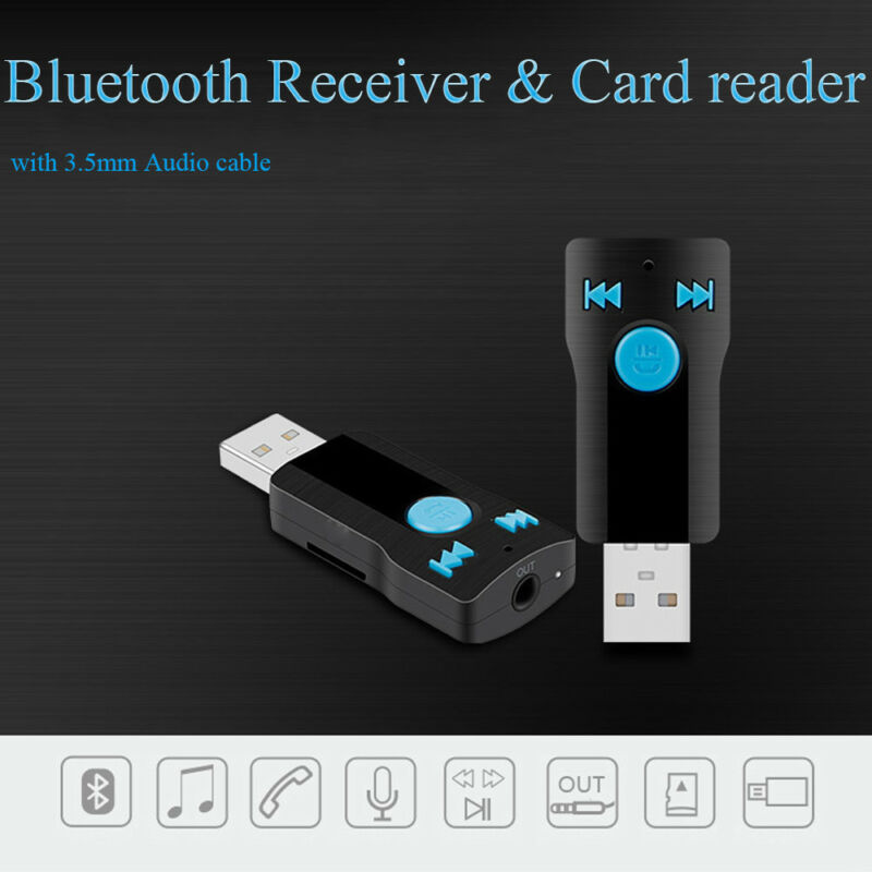 1pc USB Bluetooth Wireless Audio Music Stereo Adapter Dongle Receiver for TV PC 3