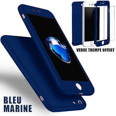 Housse Etui Coque 360 Protection Iphone 6/Plus/7/8/X/5S/Se + Vitre Verre Trempe 6