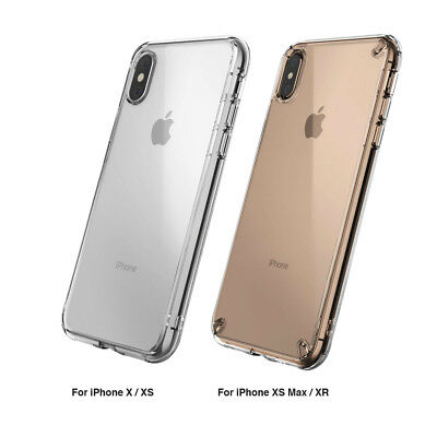 new arrival a39e1 cea13 IPHONE XS MAX XR X Case Genuine Ringke Fusion Clear Slim Cover For Apple