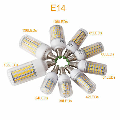 E27 E14 LED MAZORCA Bombilla 45w 30w 25w 20w 15w 12w 7w luz 5730SMD 3