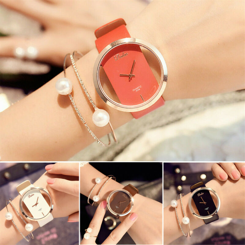 Fashion Girl Women Classic Casual Quartz Watch Leather Strap Wrist Watches Gift 2