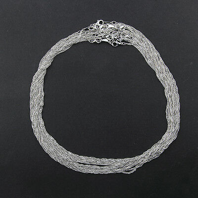 10pcs/lot Waves 2mm Alloy Lobster Clasp Chains DIY Necklace Jewelry Making 17'' 5