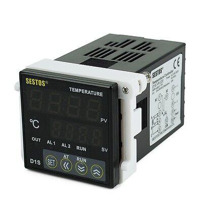Digital PID Temperature Control Controller D1S-VR-220 & K sensor & 60A SSR