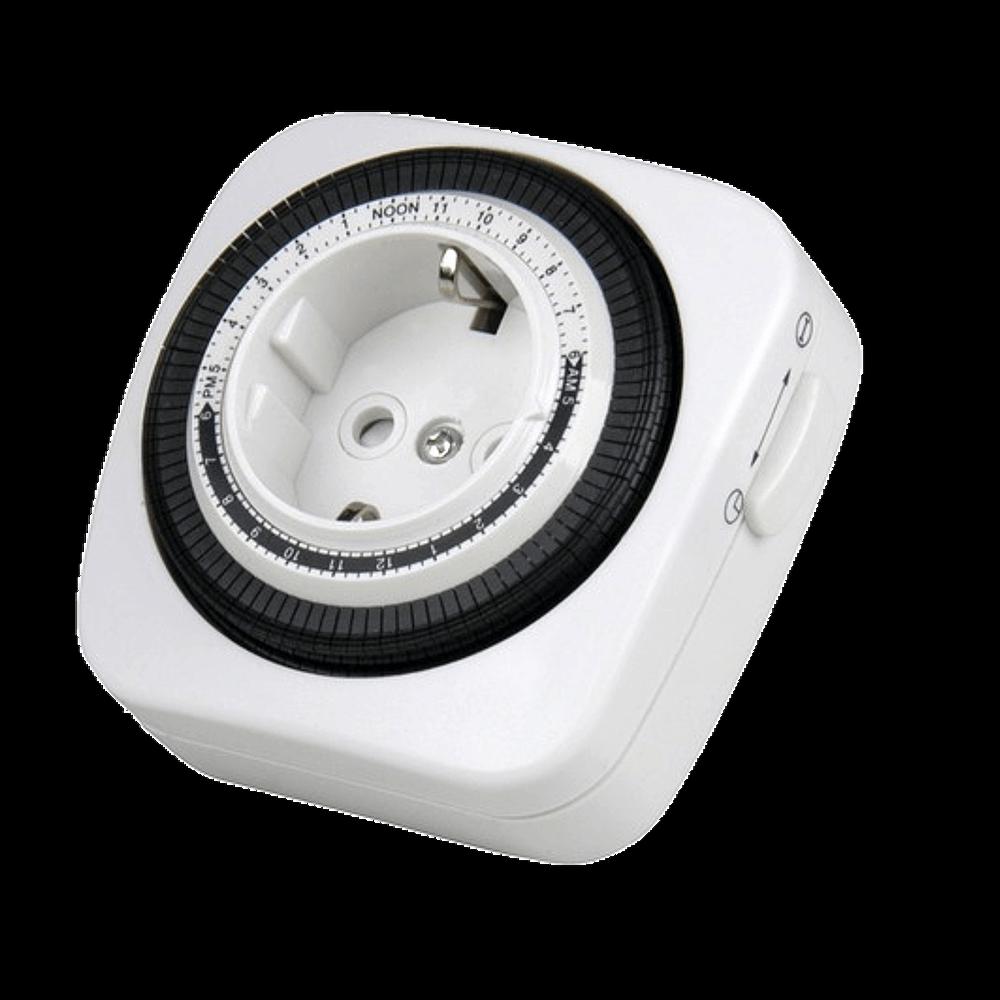 Tages Zeitschaltuhr Mechanisch Analog Quadratisch 3600W Weiß Indoor 15min timer 2