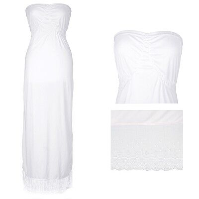 long length slip with beautiful lace border Strapless Slest SLIP
