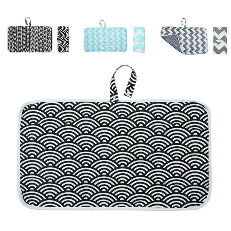 Breathable Baby Waterproof Portable Foldable Diaper Travel Changing Mat Storage 2