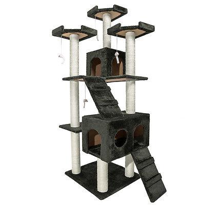 Arbre à chat griffoir grattoir anthracite grises 186 cm 6