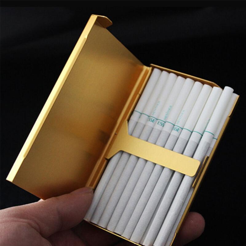 NEUE Dame 20 Sticks Gold Mode Kreative Metall Zigarettenetui Zigarettenschachtel