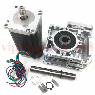 Nema23 Worm Gearbox 7.5:1 Stepper Motor 4.2A 22.5Nm L112mm Speed Reducer CNC 5