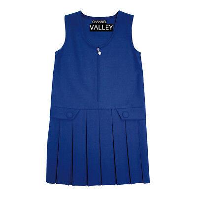 Girls School Uniform Pinafore  Box Pleated Elasticated waist school kids Skirt 5