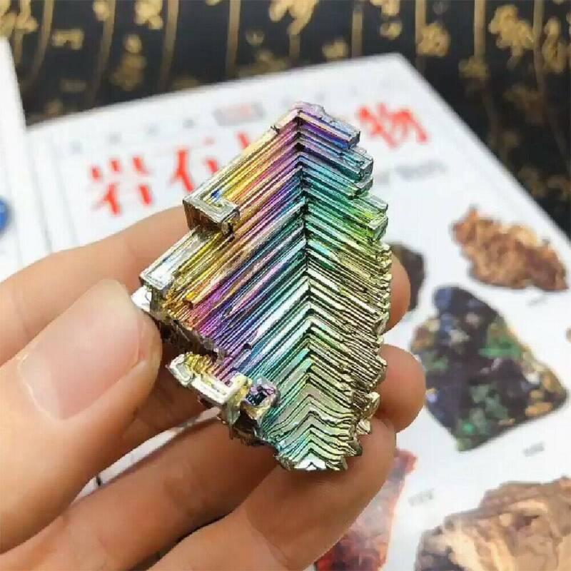 Top Natural Quartz Crystal Rainbow Titanium Cluster VUG Mineral Specimen Healing 8