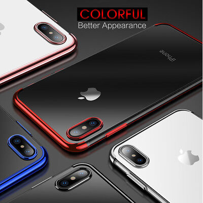 iPhone XS MAX XR X 8 7 Plus Shockproof Case Soft Bumper Tough Clear Cover Apple 7
