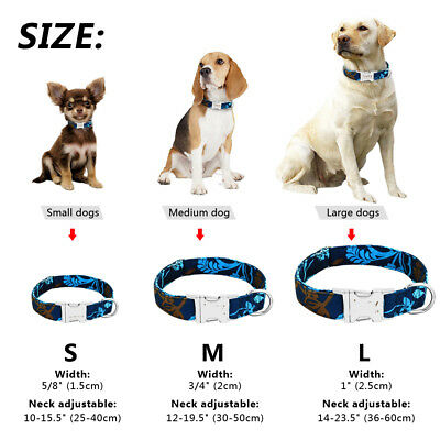 Small Large Personalized Dog Collar Customized Pet Name ID Bulldog Pitbull Boxer 6