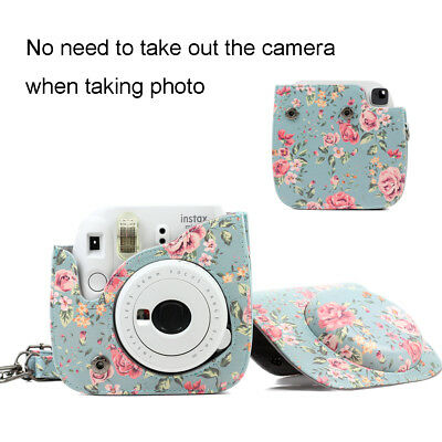 Fujifilm Instax Mini 8 9 Film Instant Camera Flamingo Bag PU Leather Cover Case 5