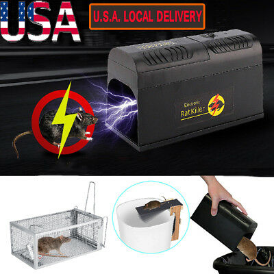 Electronic Mouse Trap Control Rat Killer Pest Electric Zapper Rodent Garden Home 2