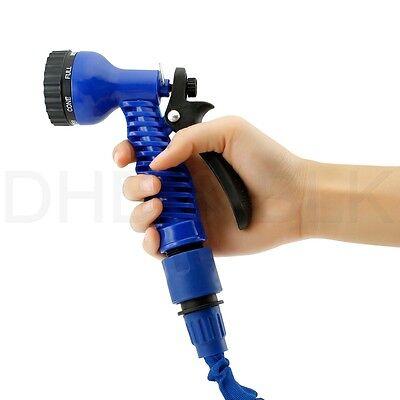 Deluxe 25 50 75 100 Feet Expandable Flexible Garden Water Hose w/ Spray Nozzle 4
