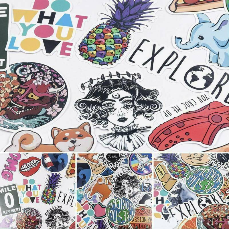 100Pcs Mixed Vinyl Laptop Skateboard Stickers bomb Luggage Decals Dope Sticker 6