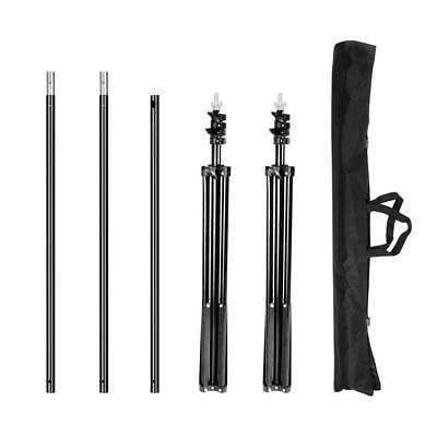 8.69x9.84ft Adjustable Photography Studio Backdrop Support Stand Background Kit 2