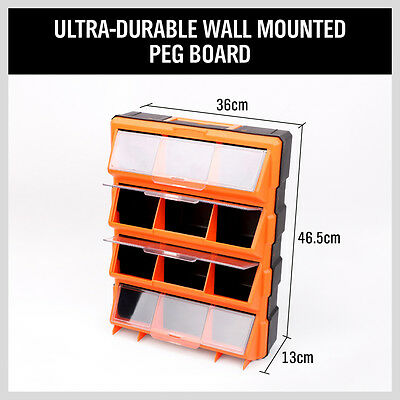 12-60 Drawers Storage Cabinet Tool Box Bin Chest Case Plastic Organiser Toolbox