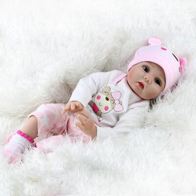 22'' Realistic Newborn Girl Silicone Vinyl Reborn Baby Dolls Handmade Xmas Gift 11