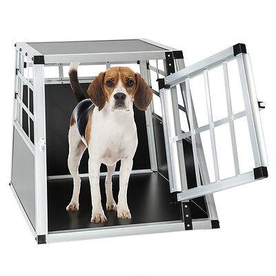 Cage box caisse de transport chien mobile aluminium single 2