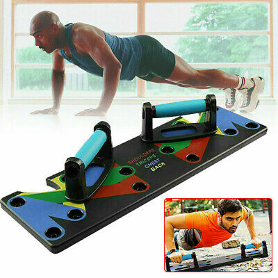 9 in1 Push Up Rack Board Fitness Workout Train Gym Muscle Exercise Pushup Stands 7