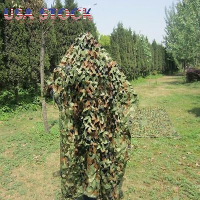 Woodland Camouflage Netting Military Camo Net Hunting w/ String Backing 13x10ft 6