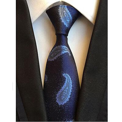 Men Classic Silk Paisley Tie Jacquard Woven Necktie Pocket Square Handkerchief 9