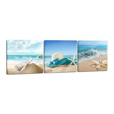 Canvas Prints Picture Painting Photo Wall Art Home Room Decor Sea Beach Blue 2
