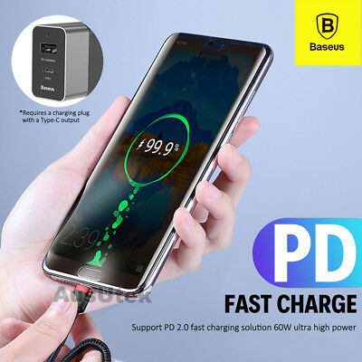 PD Fast Charger Cable USB Type-C For Samsung Galaxy Note 10 9 S9 S10 Plus P30 2