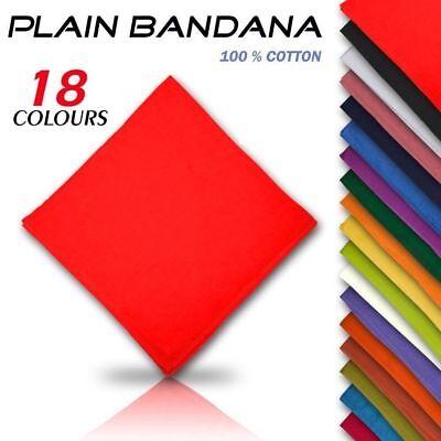 100% Cotton Plain Paisley Design Camo Army Bandanna Cow Boy Girl Bandana UK B3 3