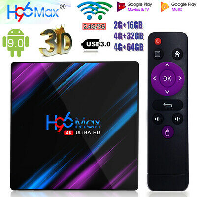 H96 Max RK3318 Android 9.0 32/64GB Quad Core 4K Media Player WiFi Smart TV BOX G 3