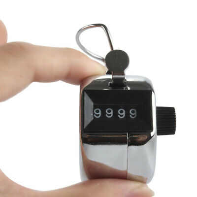 Hand Tally Counter Mechanical Manual Palm Clicker Click 4 Digit Manual Counting 4