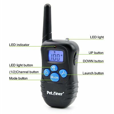 Petrainer Dog Training Collar Rechargeable Electric Remote Control Shock Collar 2