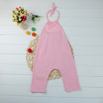 Toddler Kid Baby Girl Strap Romper Jumpsuit Harem Pants Outfit Clothes Summer CW 5
