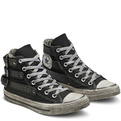CONVERSE ALL STAR Studded High Top sneaker donna borchie art. 164524C col. nero