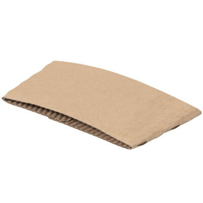 100 ct. 10 - 20 Oz. Eco Disposable Brown Coffee Cup Sleeves / Jacket / Clutch 5