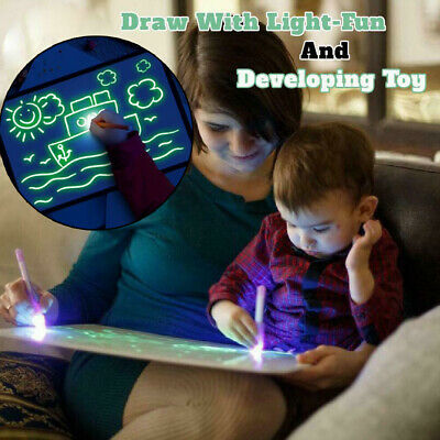 Light Up Drawing Fluorescent Magic Writing Board Kit Kids Fun And Developing Toy 7