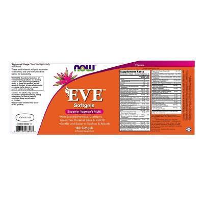 NOW FOODS, EVE Superior Frauen Women Multi-Vitamin 180 Weichkapseln EXTRAPREIS 2