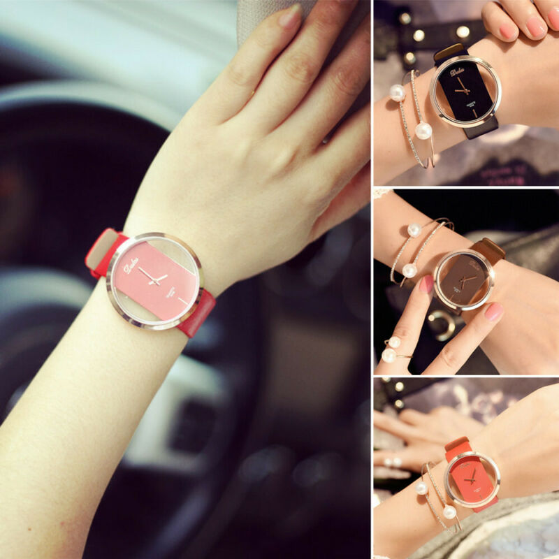 Fashion Girl Women Classic Casual Quartz Watch Leather Strap Wrist Watches Gift 3
