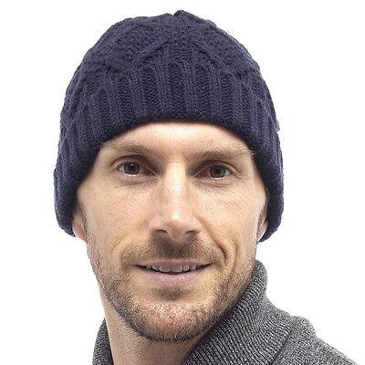 e9f75f64fc8 RJM TOM FRANKS Mens Cable Knit Beanie Hat - £3.99