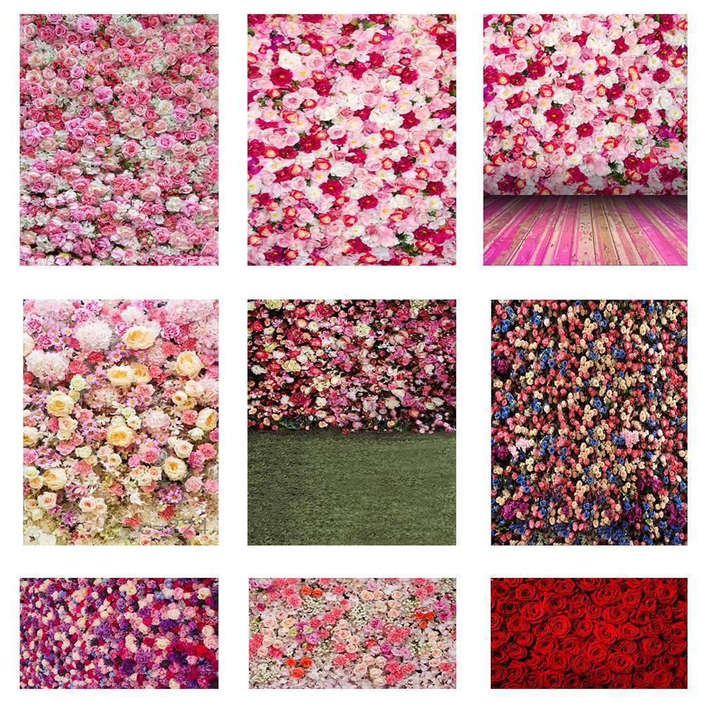 UK Flower Wall Floor Photography Backdrop Photo Studio Background Prop 5x7ft 3