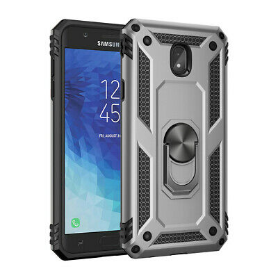For Samsung Galaxy J2 J3 J4 Plus J6 J7 Magnetic Military Armor Stand Ring Case 9