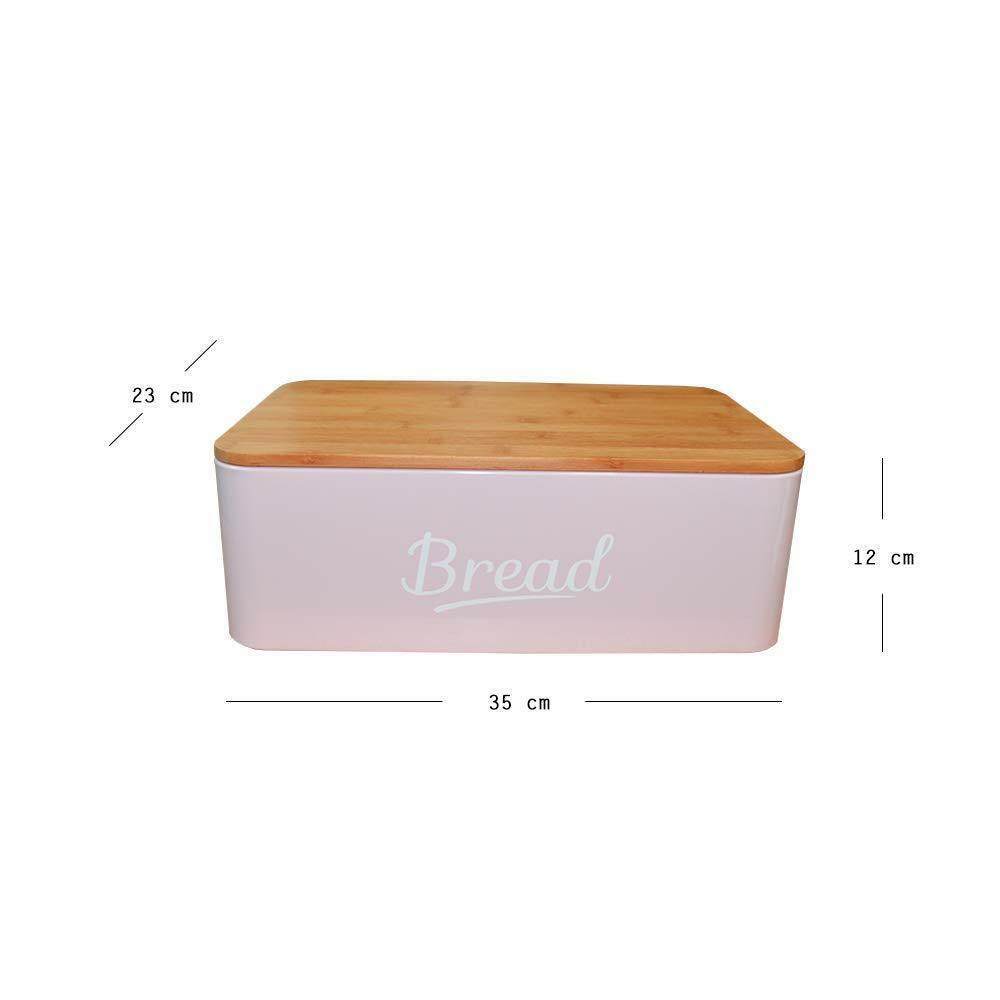 Nero Contenitore per pane con tagliere in bamb/ù 35/x 20/x 21/cm