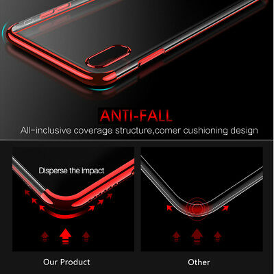 iPhone X XS MAX XR 8 7 Case Shockproof Soft Bumper Tough Gel Clear Cover Apple 6