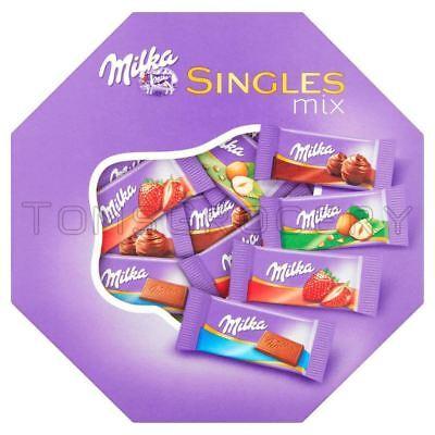 2 X Milka Singles Assorted Mix Mini Chocolate Bars 138g 49